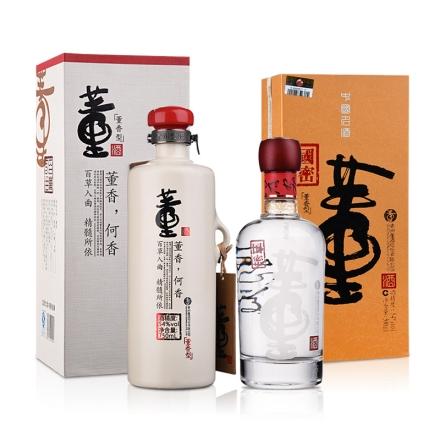 54°董酒何香750ml+54°国密董酒500ml(乐享)