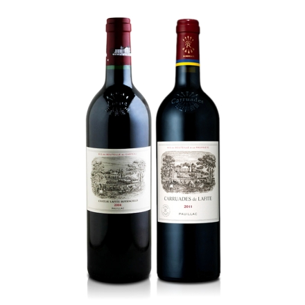 (列级庄·名庄·正牌)法国拉菲酒庄干红2004+法国拉菲酒庄2011副牌干红