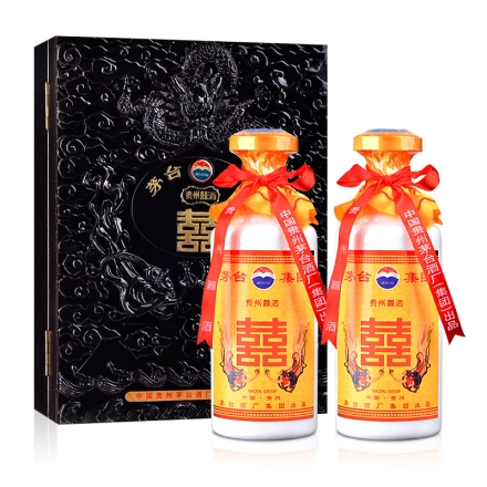 52°浮雕盒贵州囍酒500ml*2