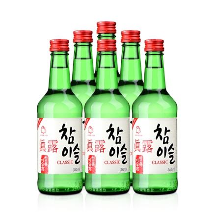 20.1°真露竹炭酒(6瓶装)