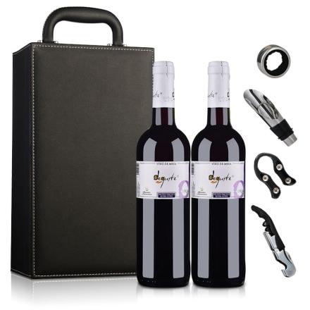 西班牙德古斯特干红葡萄酒(双支皮盒套装)750ml*2