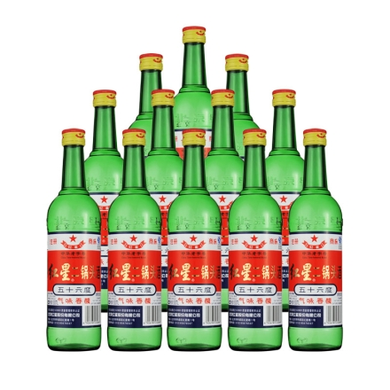 56°红星二锅头整箱装500ml*12瓶装