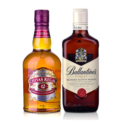 【全球超级买手日】芝华士12年威士忌500ml+百龄坛500ml