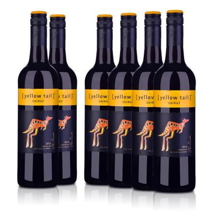 【超级返现】黄尾袋鼠西拉红葡萄酒(6瓶装)